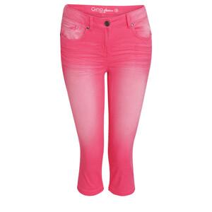 Damen Capri-Jeans mit Used-Waschung