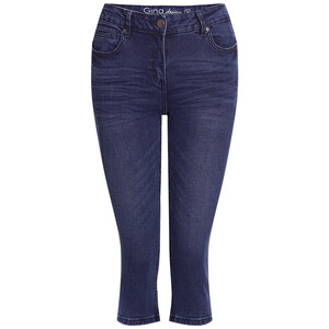 3/4 Damen Slim-Jeans im Five-Pocket-Style
