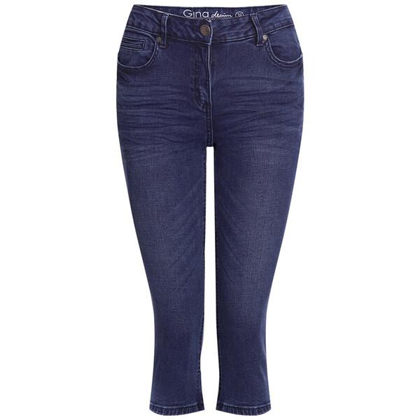 3/4 Damen Slim-Jeans im Five-Pocket-Style