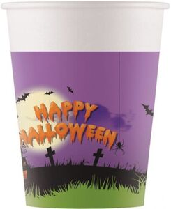 8 Pappbecher - Happy Halloween - ca. 200ml