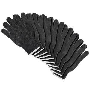 Kraft Werkzeuge Arbeits- Handschuhe, 10er Set - Dunkelgrau