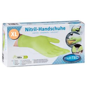 Multitec Nitril Einmalhandschuhe 100er, Größe XL - Grün