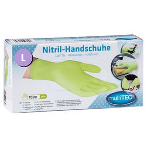 Multitec Nitril Einmalhandschuhe 100er, Größe L - Grün