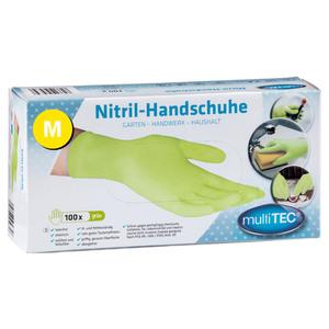 Multitec Nitril Einmalhandschuhe 100er, Größe M - Grün