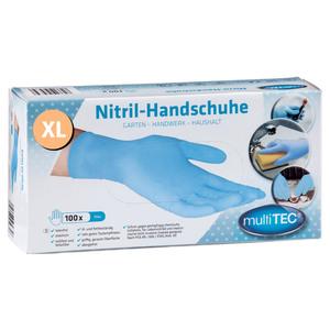 Multitec Nitril Einmalhandschuhe 100er, Größe XL - Blau