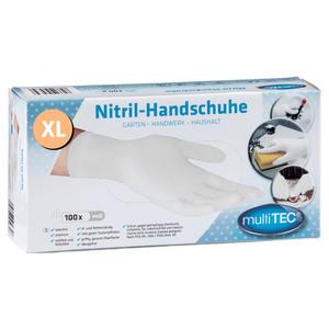 Multitec Nitril Einmalhandschuhe 100er, Größe XL - Weiß