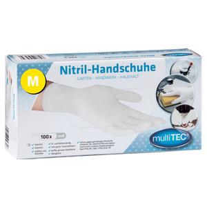 Multitec Nitril Einmalhandschuhe 100er, Größe M - Weiß