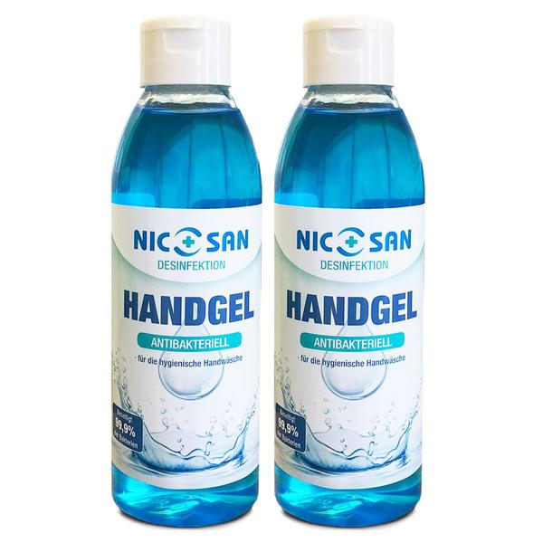 NICOSAN Handgel Antibakteriell, 250 ml 2er Pack
