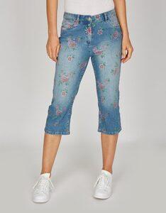 Bexleys woman - Capri-Jeans mit Blumen-Druck