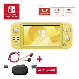 Nintendo Switch Lite inkl. HyperX HX-HSCEB-RD Cloud Earbuds