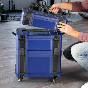 Stapelboxen-Set Einhell, 5-teilig, inkl. Rollbrett