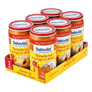 Bebivita Pfirsich mit Maracuja in Birne 250 g, 6er Pack