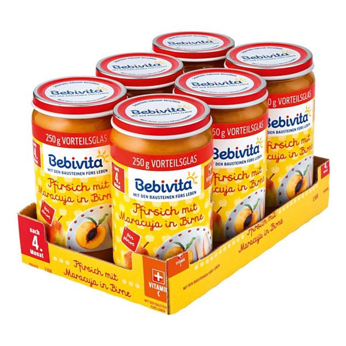 Bild 1 von Bebivita Pfirsich mit Maracuja in Birne 250 g, 6er Pack