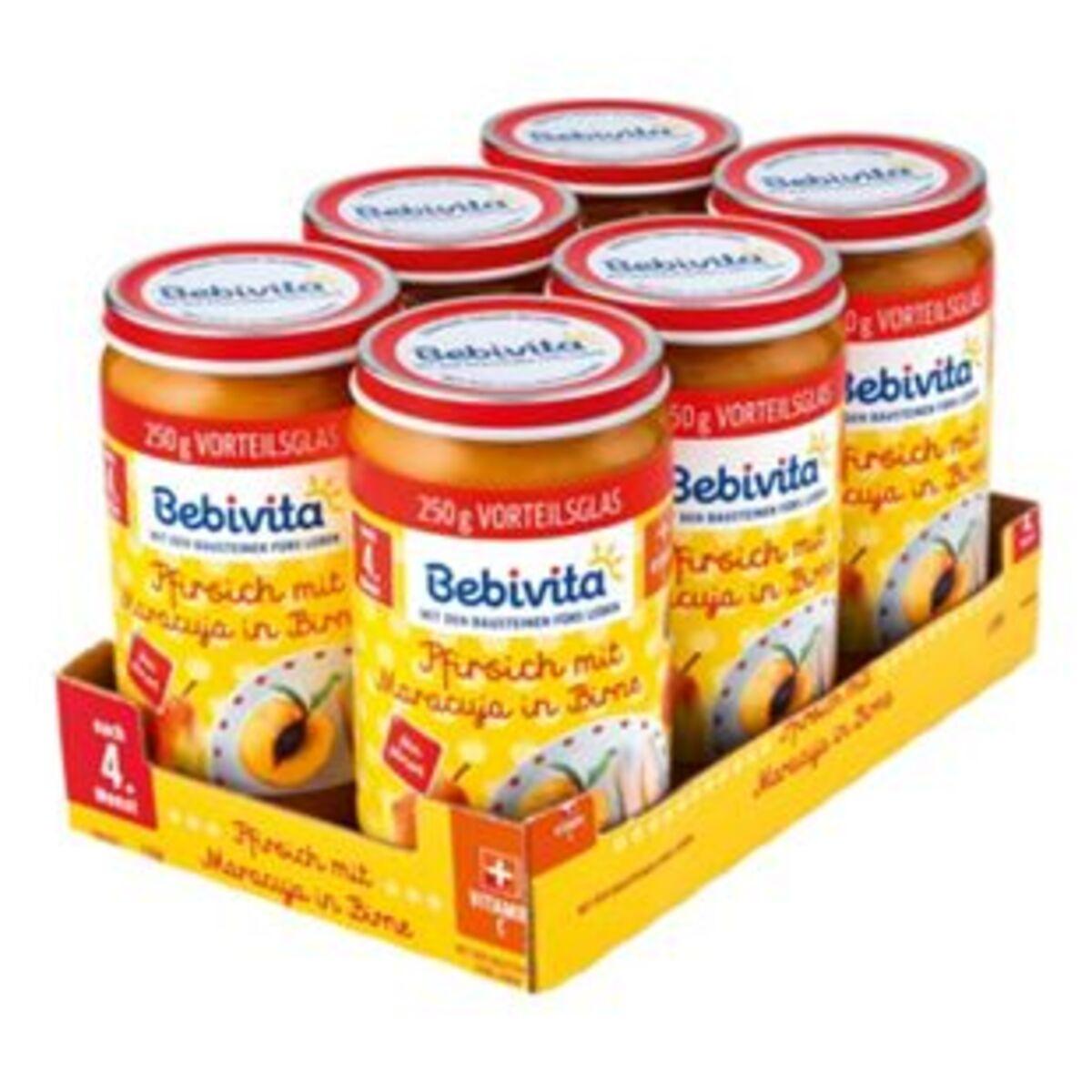 Bild 2 von Bebivita Pfirsich mit Maracuja in Birne 250 g, 6er Pack
