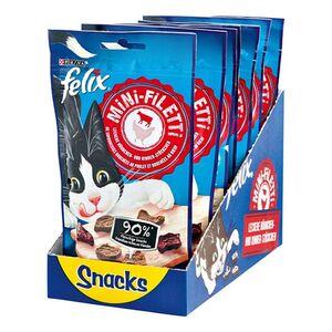 FELIX Katzenfutter Mini-Filetti Leckere Katzensnacks 40 g, 7er Pack