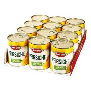 Beste Ernte Pfirsiche leicht gezuckert 480 g, 12er Pack