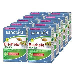 sanotact Bierhefe Flocken 100 g, 10er Pack