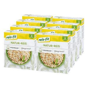 Reis-fit Natur Reis 500 g, 8er Pack