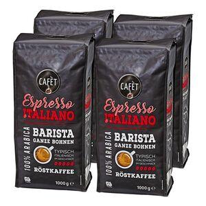 Cafet Espresso Ganze Bohnen 1000 g, 4er Pack