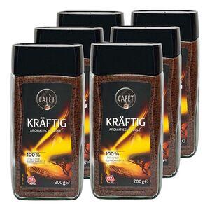 Cafet Instantkaffee Kräftig 200 g, 6er Pack