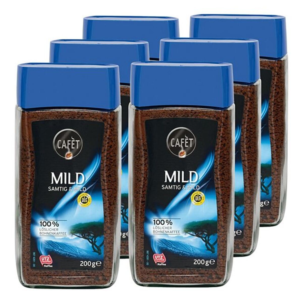 Bild 1 von Cafet Instantkaffee Mild 200 g, 6er Pack