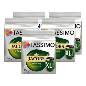 Jacobs Tassimo Jacobs Krönung XL 16 Kapseln 144 g, 5er Pack