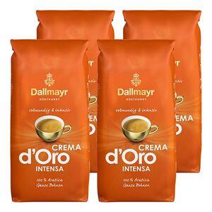 Dallmayr ganze Kaffeebohnen Crema dOro Intensa 1 kg, 4er Pack