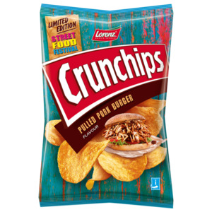 Lorenz Crunchips Pulled Pork Burger Flavour 150g