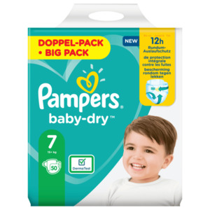 Pampers Windeln Baby Dry Gr.7 15+kg Big Pack 50 Stück