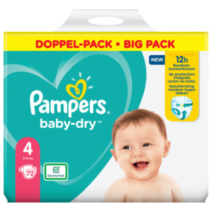 Pampers Baby Dry Gr.4 9-14kg Big Pack 72 Stück