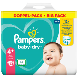 Pampers Baby Dry Gr.4+ 10-15kg Big Pack 64 Stück