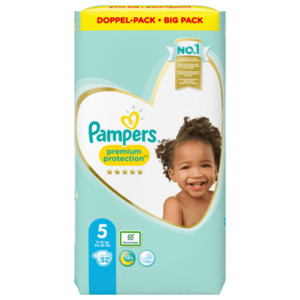 Pampers Windeln Premium Protection Gr.5 11-16kg Big Pack 52 Stück