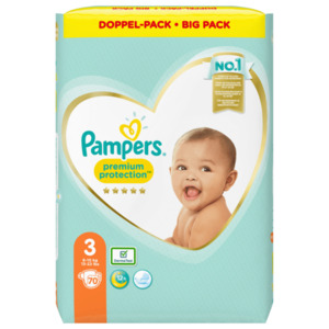 Pampers Windeln Premium Protection Gr.3 6-10kg Big Pack 70 Stück