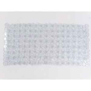 Dekor Dusch- oder Wanneneinlage in verschiedenen Farben und Größen - Wanneneinlage, ca. 70 x 35 cm - hellgrau transparent