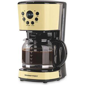 GOURMETmaxx Kaffeemaschine Retro 900W mit Timer - vanille