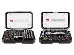 PARKSIDE® Ratschen Bit-Set, 31-teilig/ 41-teilig, mit Kunststoffbox, drehbarer Gürtel Clip