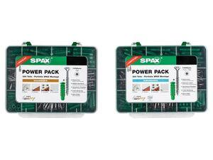 Spax Schrauben- und Dübel Set »Power Pack«, 300-teilig/ 200-teilig, für Innen/ Außen