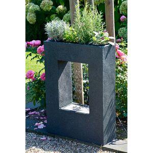 Dobar 96110e Design-Gartenbrunnen mit Pflanzoption