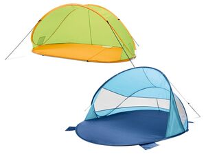 CRIVIT® Pop-Up Strandmuschel, Wind- und Sonnenschutz, mit 2 Innentaschen, Fiberglasgestänge