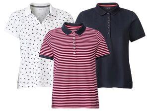 ESMARA® Poloshirt Damen, in Pikee-Qualität, mit Seitenschlitzen, mit Baumwolle und Elasthan