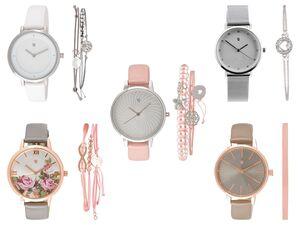 Auriol® Armbanduhr-Schmuckset