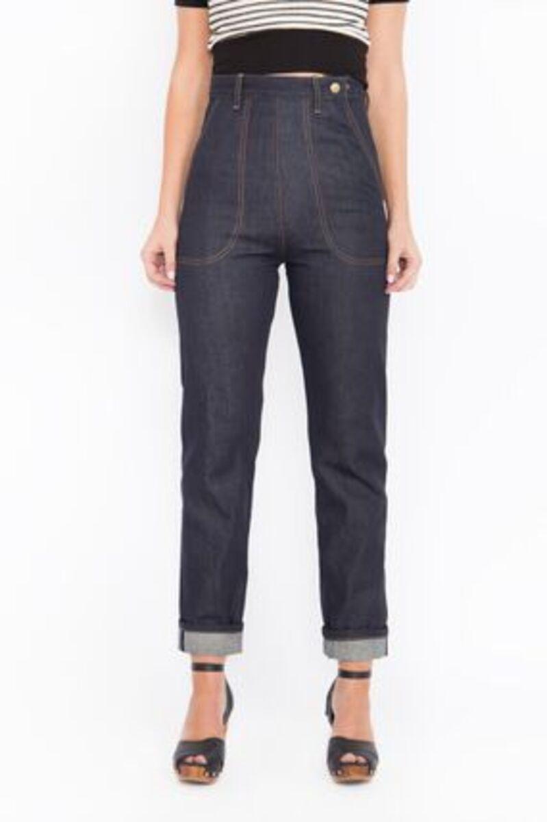 Bild 1 von Queen Kerosin Damen Straight-jeans Original 50s Fit Red Selvedge