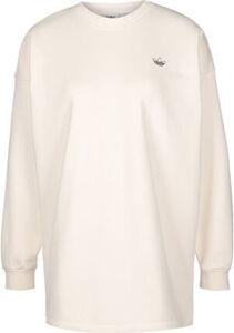 adidas Sweatshirt, Baumwollmix, Glitzer-Logo, überschnittene Schultern, für Damen
