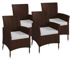 Vcm Polyrattan Stuhl Stühle Rattan Gartenstühle Sessel Gartensessel Braun,