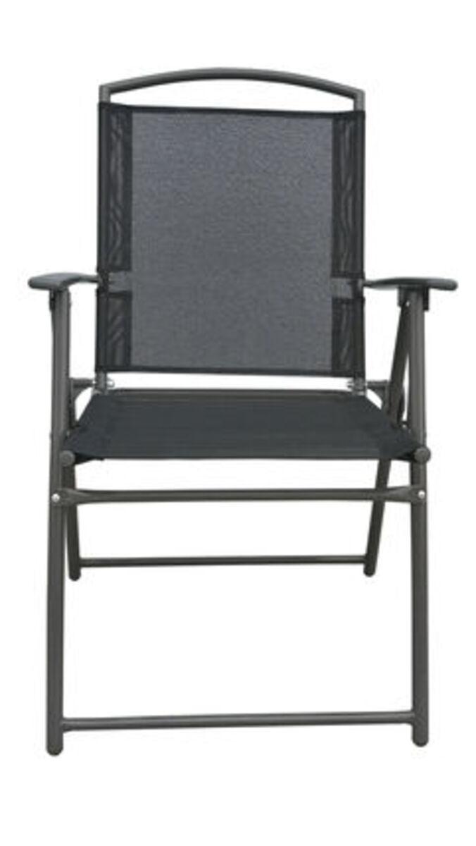 Bild 3 von Vcm Set Gartenstuhl Stühle Stuhl Metall Textilene klappbar, 4 Stühle: Anthrazit
