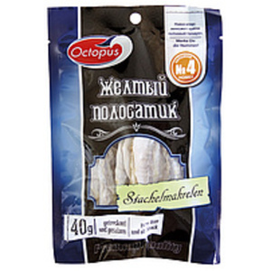 Snack aus Goldband-Selar (Selaroides leptolepis), getrocknet...