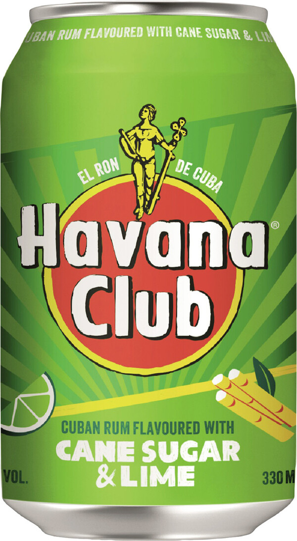 Havana Club Cane Sugar & Lime 0,33 ltr