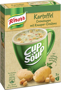 Knorr Cup a Soup Kartoffel Cremesuppe mit Knusper-Croutons 3x 16 g