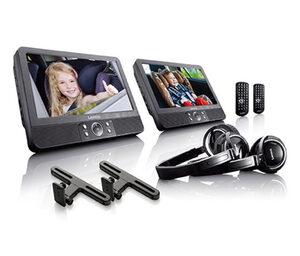 Lenco 9 Zoll tragbares DVD-Player-Set – inkl. Zubehör