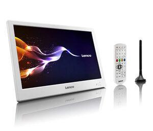 Lenco 10 Zoll tragbarer TV mit DVB-T2, weiß